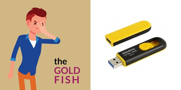Adata UV128 16GB USB 3.0 Pendrive-Yellow