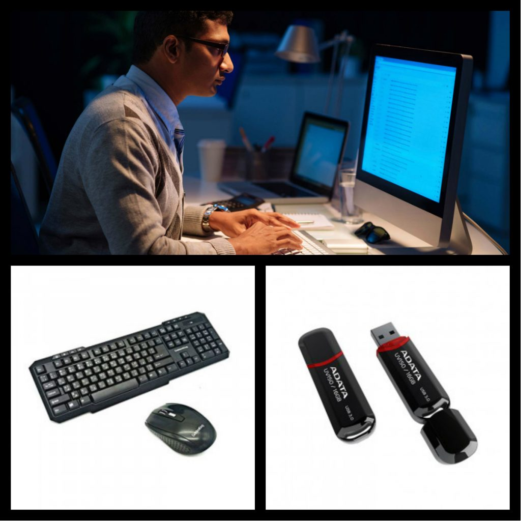 workaholic-professionals-keyboard-mouse-pendirve